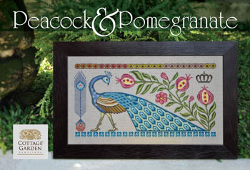 Cottage Garden Samplings - Peacock & Pomegranate