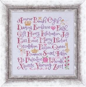 Cottage Garden Samplings - Valentine Sampler