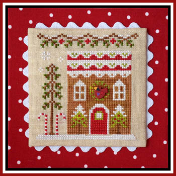 Country Cottage Needleworks - Gingerbread Village #6 - Gingerbread House 4