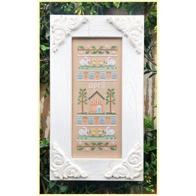 Country Cottage Needleworks - Sampler of the Month - April