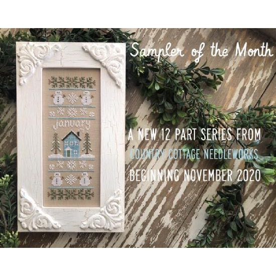Country Cottage Needleworks' Sampler of the Month Club (March 2021)