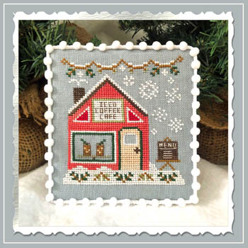 Country Cottage Needleworks - Snow Village - Part 10 - Iced Coffee Cafe
