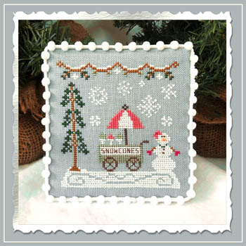 Country Cottage Needleworks - Snow Village - Part 11 - Snow Cone Cart