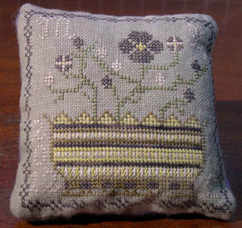 Dames of the Needle - Pansy Flower Pincushion