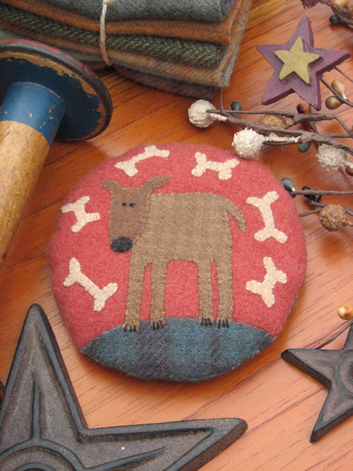 Hatched and Patched - Digby the Dog pincushion