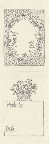 Flower Field Quilt Labels