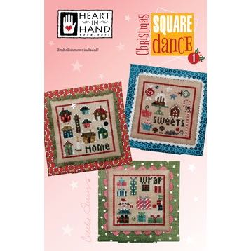 Heart in Hand Needleart - Christmas Square Dance 1
