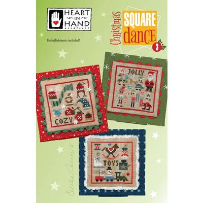 Heart in Hand Needleart - Christmas Square Dance 3