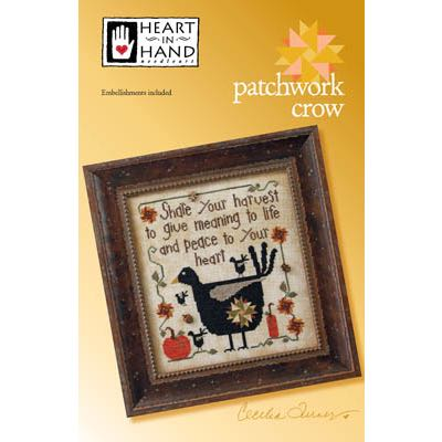 Heart in Hand Needleart - Patchwork Crow