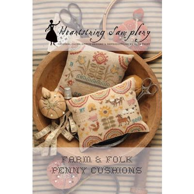 Heartstring Samplery - Farm & Folk Penny Pincushions