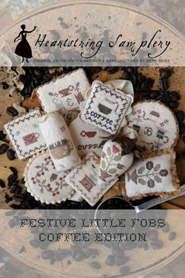 Heartstring Samplery - Festive Little Fobs - Coffee Edition