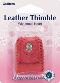 Hemline - Leather Thimble with Metal Insert