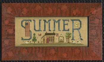 Delivering Summer Homespun Elegance Cross Stitch Pattern
