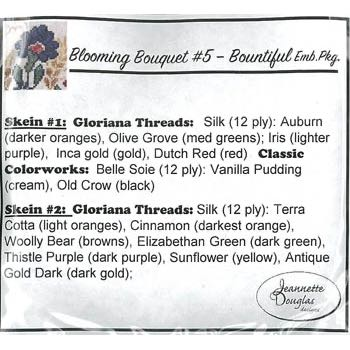 Jeannette Douglas Designs - Blooming Bouquets 5 - Bountiful embellishments pack