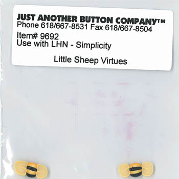 Just Another Button Company - Little Sheep Virtues #6 - Simplicity Button Pack