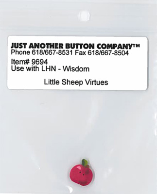 Just Another Button Company - Little Sheep Virtues #8 - Wisdom Button Pack