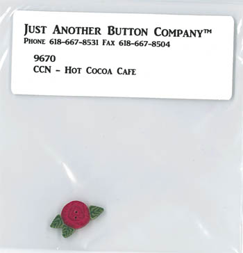 Just Another Button Company - Santa's Village #12 - Hot Cocoa Cafe Button Pack