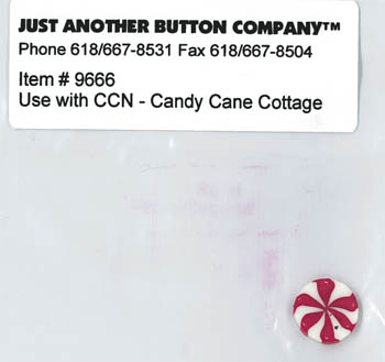 Just Another Button Company - Santa's Village #8 - Candy Cane Cottage Button Pack