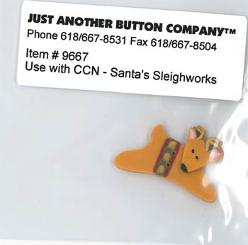 Just Another Button Company - Santa's Village #9 - Santa's Sleighworks Button Pack