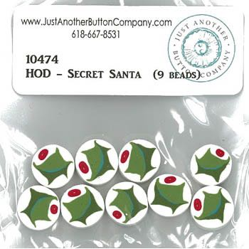 Just Another Button Company - Secret Santa (HOD) - 9 Holly Beads