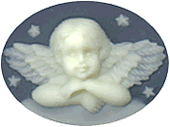 Kelmscott Designs - Angel on Navy Needleminder