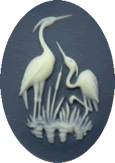 Kelmscott Designs - Cranes on Navy Needleminder