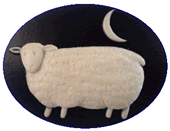 Kelmscott Designs - Sheep at Night Needleminder
