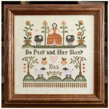 Little House Needleworks - Bo Peep and her Sheep