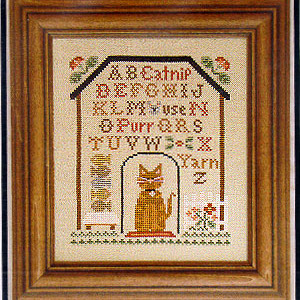 Little House Needleworks - Kitty Cottage Sampler