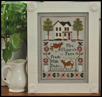 Little House Needleworks - Mrs O'Leary's Dairy Farm