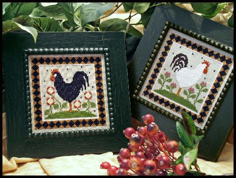 Little House Needleworks - Two Roosters