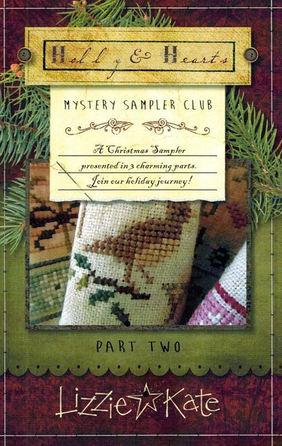 Lizzie*Kate - Holly & Hearts Mystery Sampler - Part 2