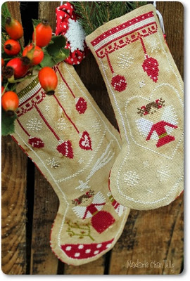 Madame Chantilly - Angels - Christmas Stocking 2014