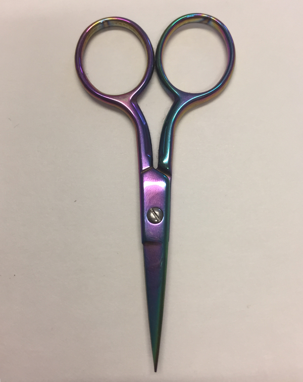 Milward - Rainbow Straight Embroidery Scissors: 3.5in/9cm