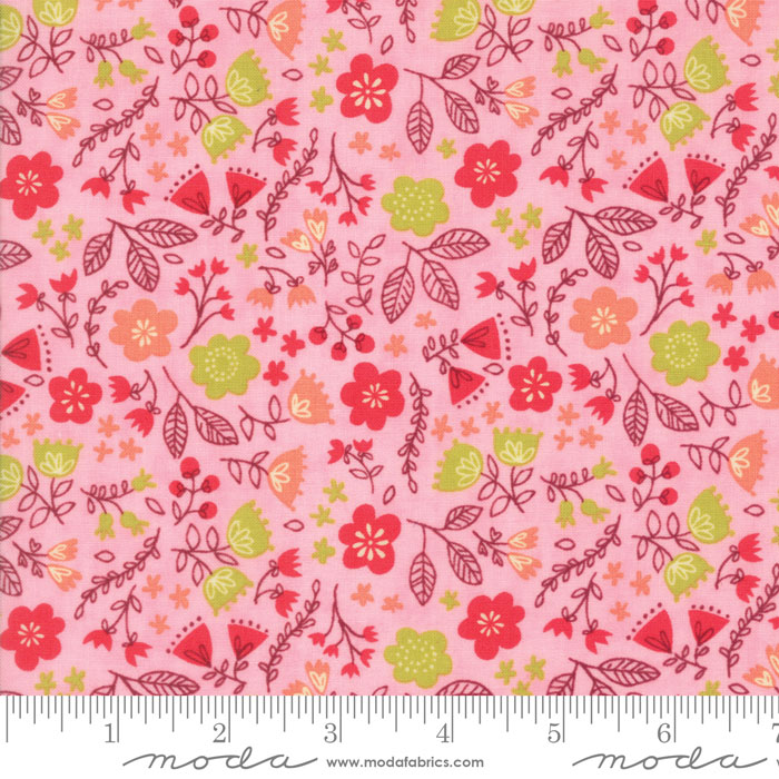 Moda - Just Another Walk in the Woods - Toss the Garden Pink 20524-12