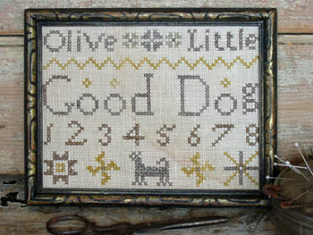 Pineberry Lane - Good Dog Marking Sampler