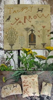 Pineberry Lane - Tansy, Yarrow, Rue - Sampler and Pinkeeps