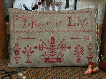 Pineberry Lane - Token of Love Redwork Sampler