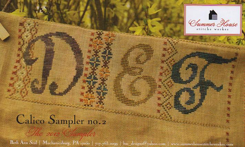 Summer House Stitche Workes - Calico Sampler #2 - DEF