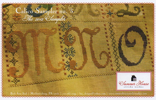Summer House Stitche Workes - Calico Sampler #5 - MNO