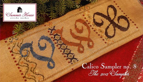 Summer House Stitche Workes - Calico Sampler #8 - VWX