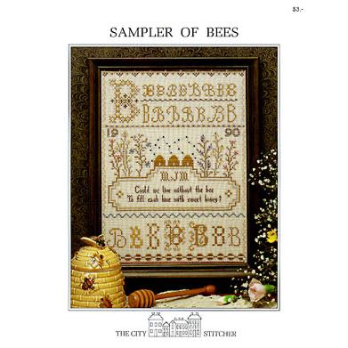 The City Stitcher - Sampler of Bees