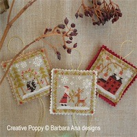 Barbara Ana Designs - Christmas Ornament Trio