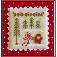 Country Cottage Needleworks - Gingerbread Village #2 - Gingerbread Girl and Peppermint Tree
