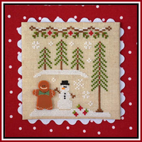 Country Cottage Needleworks - Gingerbread Village #7 - Gingerbread Boy and Snowman