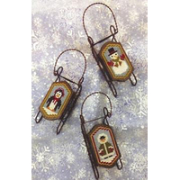 Foxwood Crossings - Sled Ornaments - Sledding Friends