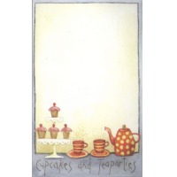 Cupcakes and Tea Party Notepad
