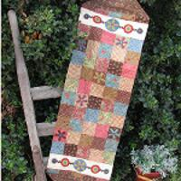 Hatched and Patched - Funky Flower Table Runner