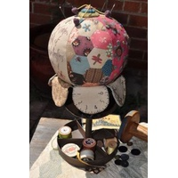 Hatched and Patched - Joy of a Garden Pincushion