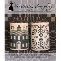 Heartstring Samplery - Schoolhouse Coverlet Drum